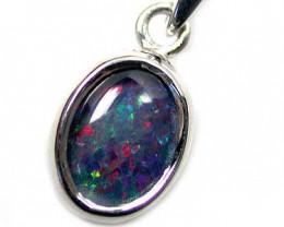 Australian Triplet  opal in Silver  Pendant K308