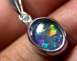 Australian Triplet  opal in Silver  Pendant SCO1689ML