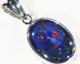 Large Australian Triplet  opal in Silver  Pendant CF 1355
