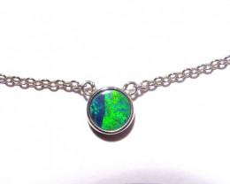 Unique Australian Gem Grade Doublet Opal and Sterling Silver Pendant