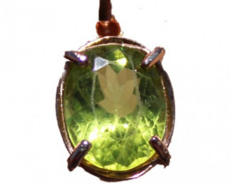 Peridot 2.25ct Rose Gold Pendant,Natural,Untreated,Brand New