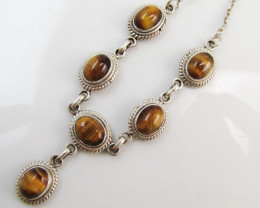 Australian Tiger eye Pendant Necklace MJA 1176