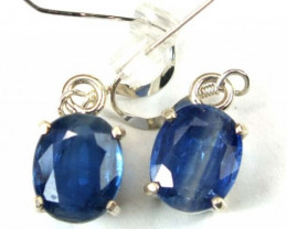 17.45 CTS KYANITE SILVER EARRINGS TBJ-40