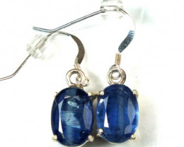 19.65 CTS KYANITE SILVER EARRINGS TBJ-41