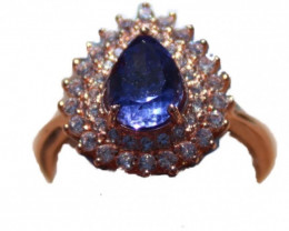 Tanzanite 1.40ct Rose Gold Ring,High Grade,Brand New