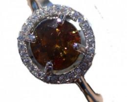 Sphene 1.50ct White Gold Ring,Natural,Brand New,Resizable,Now US 9