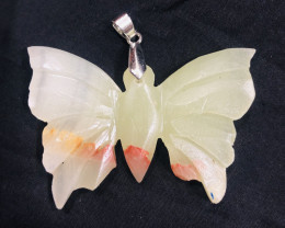 90.30 Ct Natural Butterfly Shpe Calcite pendent