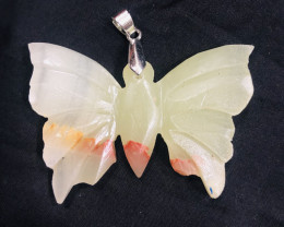 94 Ct Natural Butterfly Shape Calcite pendent