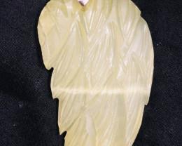 67 Ct  Natural Leaf Shape Calcite Pendent