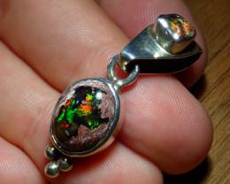 26.52ct. Mexican Matrix Opal Sterling Silver Pendant