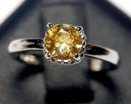 Natural Citrine Silver Ring