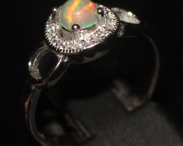 Natural Ethiopian Welo Opal 925 Silver Ring Size (7 US) 65
