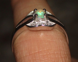 Natural Ethiopian Welo Opal 925 Silver Ring Size (8 US) 69
