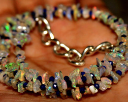 23 Crt Natural Ethiopian Welo Fire Uncut Opal & Lapis Lazuli Beads