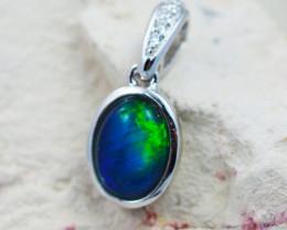 Australian  Opal Triplet in Silver pendant OPJ 2134