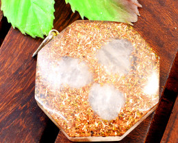 Genuine Rose Quartz Orgone Pendant
