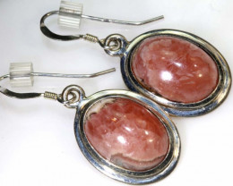 29.60 CTS  RHODOCHROSITE EARRINGS SJ-11