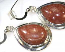 37 CTS  RHODOCHROSITE EARRINGS SJ-15