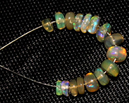 2.30 Crt Natural Ethiopian Welo Opal Beads Demi Strand For Jewelry Use 5