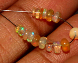 2.20 Crt Natural Ethiopian Welo Opal Beads Demi Strand For Jewelry Use 15