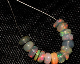 3.70 Crt Natural Ethiopian Welo Opal Beads Demi Strand For Jewelry Use 12