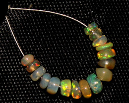 2.15 Crt Natural Ethiopian Welo Opal Beads Demi Strand For Jewelry Use 9