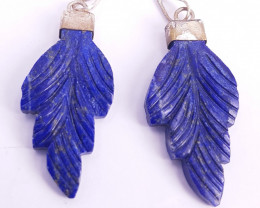 Lipas lazuli Carving Pendants with silver caps.