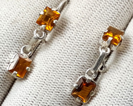 15 Carats Natural Citrine Earrings
