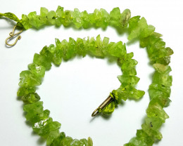 Lovely Natural color Peridot strand 170Cts-Pakistan