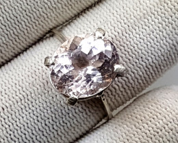 16.70 Carats Natural Morganite RIng