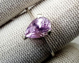 11.70 Carats Natural Kunzite Ring