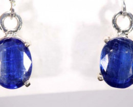 17.30 CTS  KYANITE SILVER EARRINGS TBJ-361