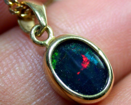 DOUBLET OPAL PENDANT 18K GOLD 1 CTS MY 571