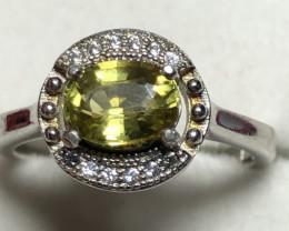 Natural Mali Garnet 925 Silver Ring