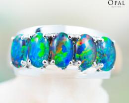 Opal Triplet set in Silver Ring size 7 - OPJ 2178