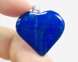 26.00 Ct Of Natural Heart Shape Lapis Lazuli Pendent