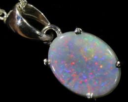 Top  Solid Fire Crystal Opal 18k Gold Pendant  SB 775