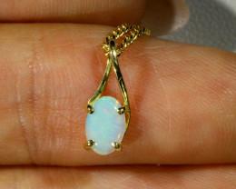 Cute Crystal Opal 18k pendant CF 925