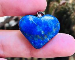 29 Ct Of Natural Heart Shape Lapis Lazuli Pendent