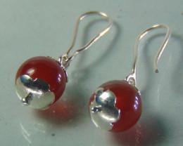 carnelian ~ earring ~ pure silver designs 12.95cts