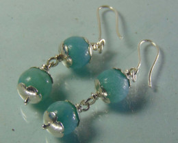 amonite~ earring ~ pure silver designs 24.40cts
