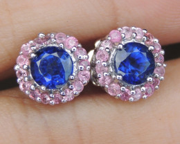 """Vivid Blue"" Kayanite with Sapphire"