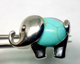 Stabilize Turquoise Elephant Stainless Steel Ring