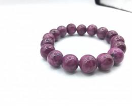 12mm Natural Ruby Zoisite Bracelet
