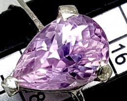 Natural Ring Of Pink Kunzite Gemstone