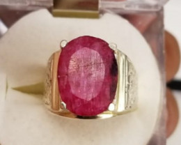 Natural Ruby Ring.