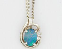 Australian Opal Doublet  Pendant OPJ 2210