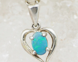 Australian Opal Doublet Heart   Pendant OPJ 2211