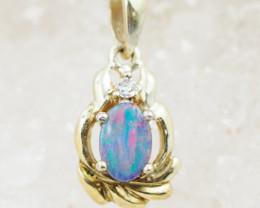 Australian Opal Doublet  Pendant OPJ 2212