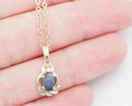 Australian Opal Doublet  Pendant OPJ 2213